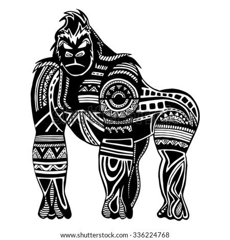 ethnic black gorilla silhouette