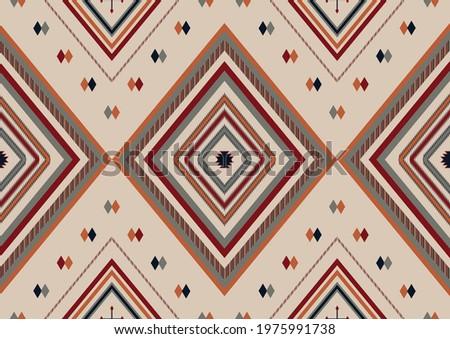 Ethnic boho geometric ornament. Mexican Navajo, Aztec tribal seamless pattern. Native serape design. Сток-фото ©