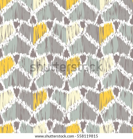 Ethnic boho seamless pattern. Ikat. Print. Repeating background. Cloth design, wallpaper.