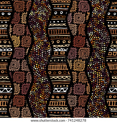 stock-vector-ethnic-boho-seamless-pattern-in-african-style-on-black-background-tribal-art-print-irregular