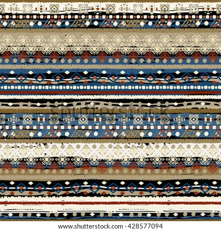 Ethnic boho seamless pattern. Tribal art print. Background texture, wallpaper