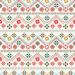 Ethnic boho seamless pattern. Tribal art print. Colorful repeating background. Cloth design, wallpaper, wrapping