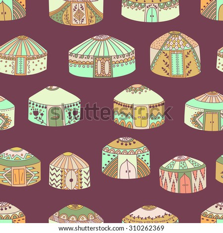 ethnic central asian yurts