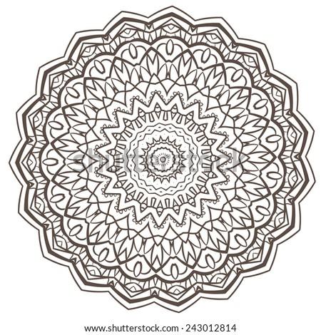 ethnic fractal mandala vector