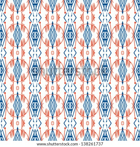 Ethnic geometric pattern with scandinavian norwegian russian and