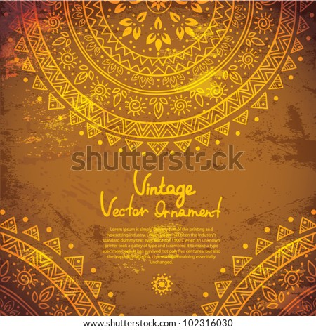 Ethnic gold ornament