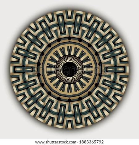 ethnic greek mandala vector