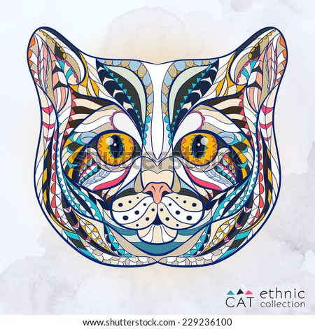 ethnic head of cat   african