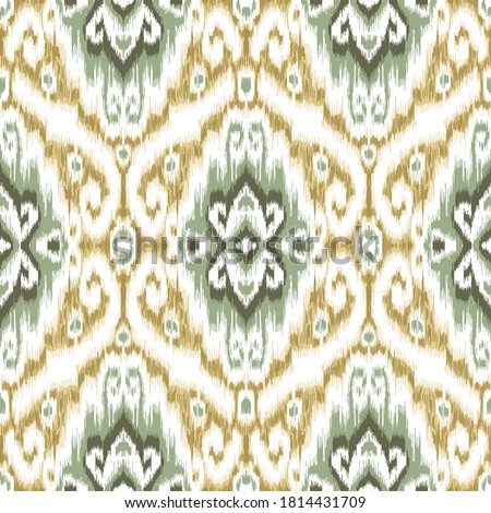 Ethnic ikat chevron pattern background Traditional pattern on the fabric in Indonesia and other Asian countries Stock photo ©