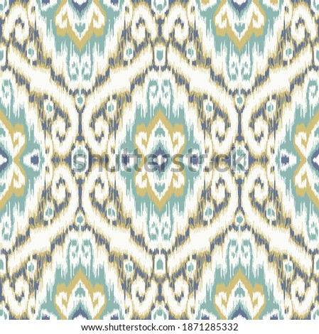 Ethnic ikat chevron pattern background Traditional pattern on the fabric in Indonesia and other Asian countries