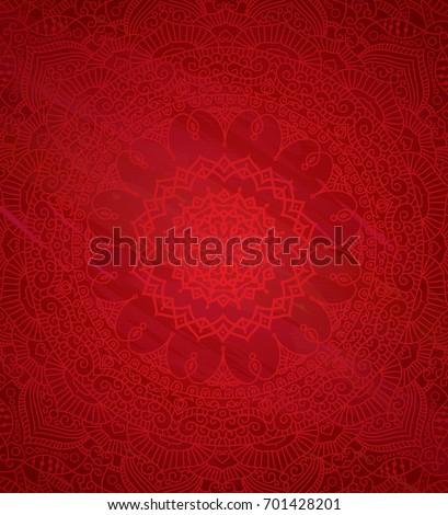 Ethnic Indian Round Ornamental Henna Mandala Background Design Template
