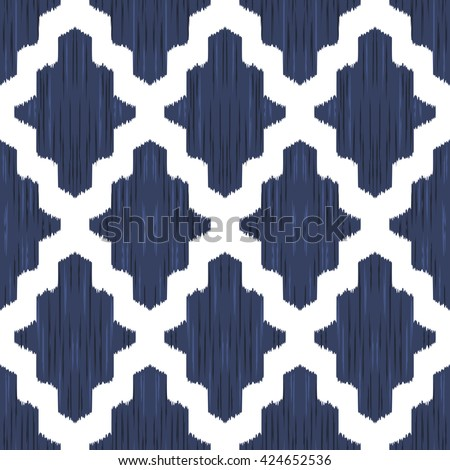 Ethnic Moroccan, damask, Islam seamless pattern. Vector background for wallpaper design, fashion or home decor textile, wrapping paper.