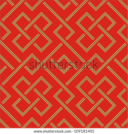 Ethnic pattern background with geometrically elements