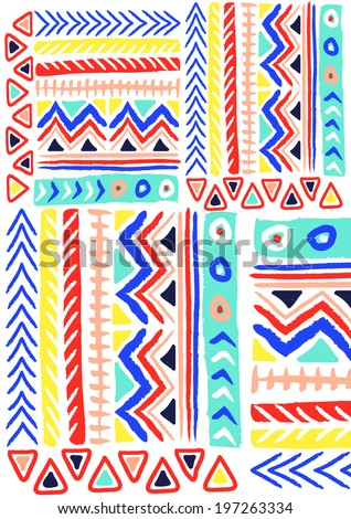 ethnic pattern in bright colors