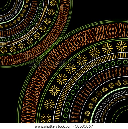 Ethnic Pattern. Look  through my portfolio to find more images of the same series - stock vector