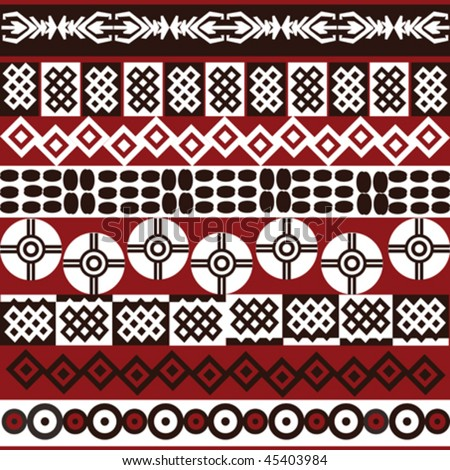 Ethnic pattern with african symbols.