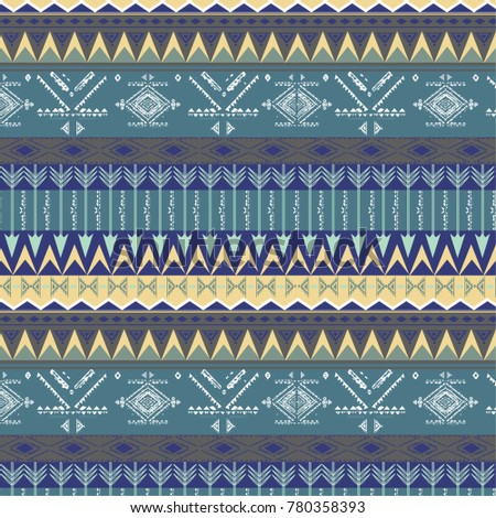Ethnic  pattern with triangle and abstract geometric ornament. Tribal background texture. Native american navajo aztec pattern. Vector illustration  background.
