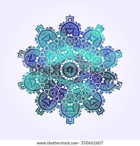 ethnic psychedelic fractal