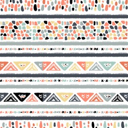 Ethnic seamless in native style. Vector pattern with American Indian symbols. Hand-drawn background vector. Tent boarder pattern