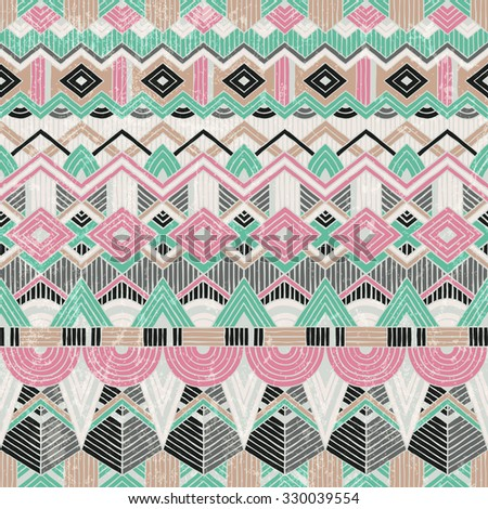 Ethnic seamless pattern. Abstract geometric background. Vector illustration EPS10.