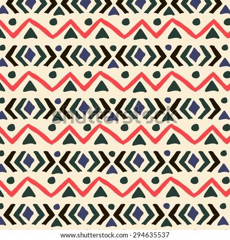 ethnic seamless pattern. aztec...