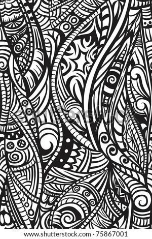 Ethnic seamless pattern. Hand drawn