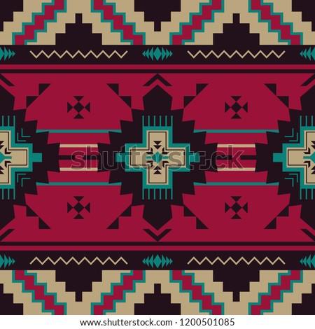 Ethnic seamless pattern. Native Southwest American, Indian, Aztec textiles. Navajo print. Stockfoto ©