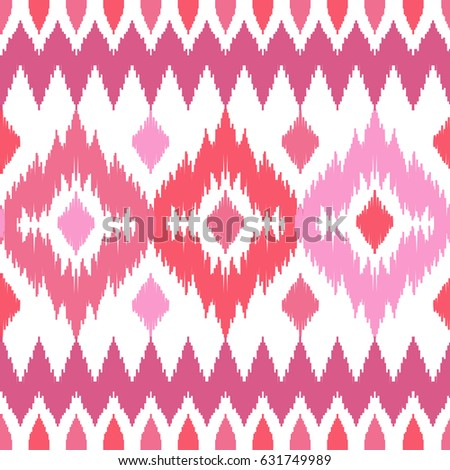Ethnic seamless pink pattern. Boho abstract textile print. Geometric romantic wallpaper.