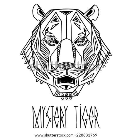 ethnic style tiger's head