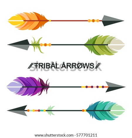 ethnic tribal colorful arrows