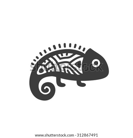 ethnic tribal totem animal with
