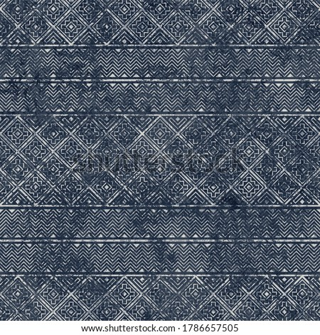 Ethnic tribal vector background with decorative folk elements. Aztec abstract geometric threadbare art print. Shabby pattern. Aging effect. Wallpaper, cloth design, fabric, tissue, textile template