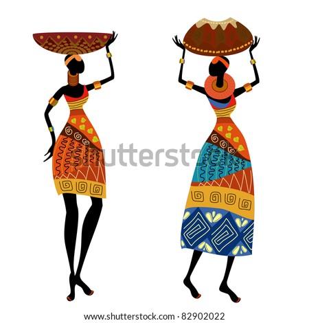 Ethnic woman with vase
