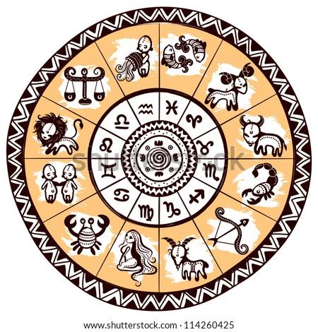 Ethnic zodiac icons