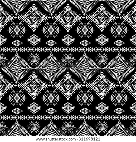 ethno seamless ornament ethnic boho repeatable pattern tribal art background fabric design. Black Bedroom Furniture Sets. Home Design Ideas