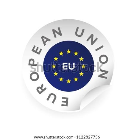 EU - European union logo sticker