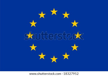 EU flag isolated vector illustration