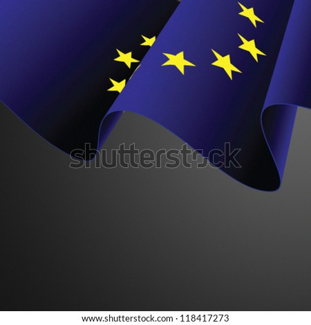 Eu flag vector illustration