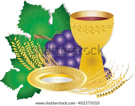 Vector Images Illustrations And Cliparts Eucharist Symbols Of