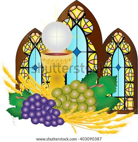 Set Of Eucharist Vector Icons Download Free Vector Art Stock