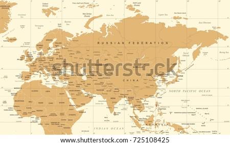 Vector de mapa antiguo de indonesia descargue grficos y vectores eurasia europa russia china india indonesia thailand map detailed vector illustration gumiabroncs Gallery