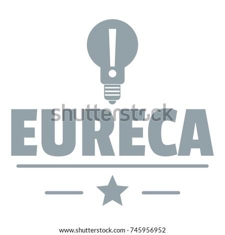 eureka bulb logo simple