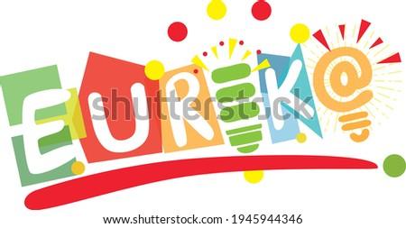 Eureka moment, creative and thinking, idea, thinking, brainstorm, success icon, playful and multi-colored shape representing Eureka Сток-фото ©
