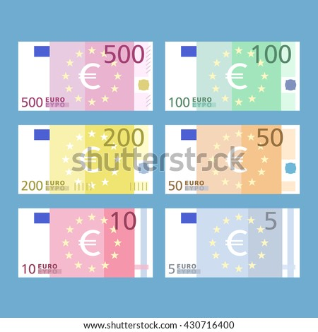 euro banknotes paper money