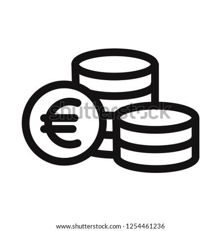 Euro coins icon vector Photo stock ©