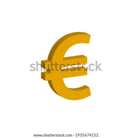 euro currency 3d style isolated