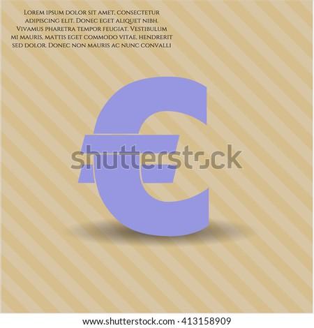 Euro icon or symbol