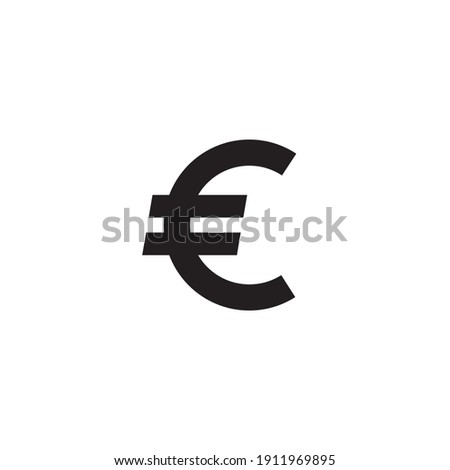 euro icon symbol sign vector