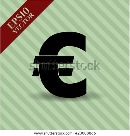 euro icon vector symbol flat eps jpg app web concept website