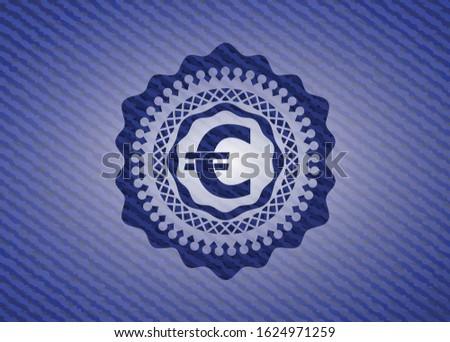 euro icon with jean texture